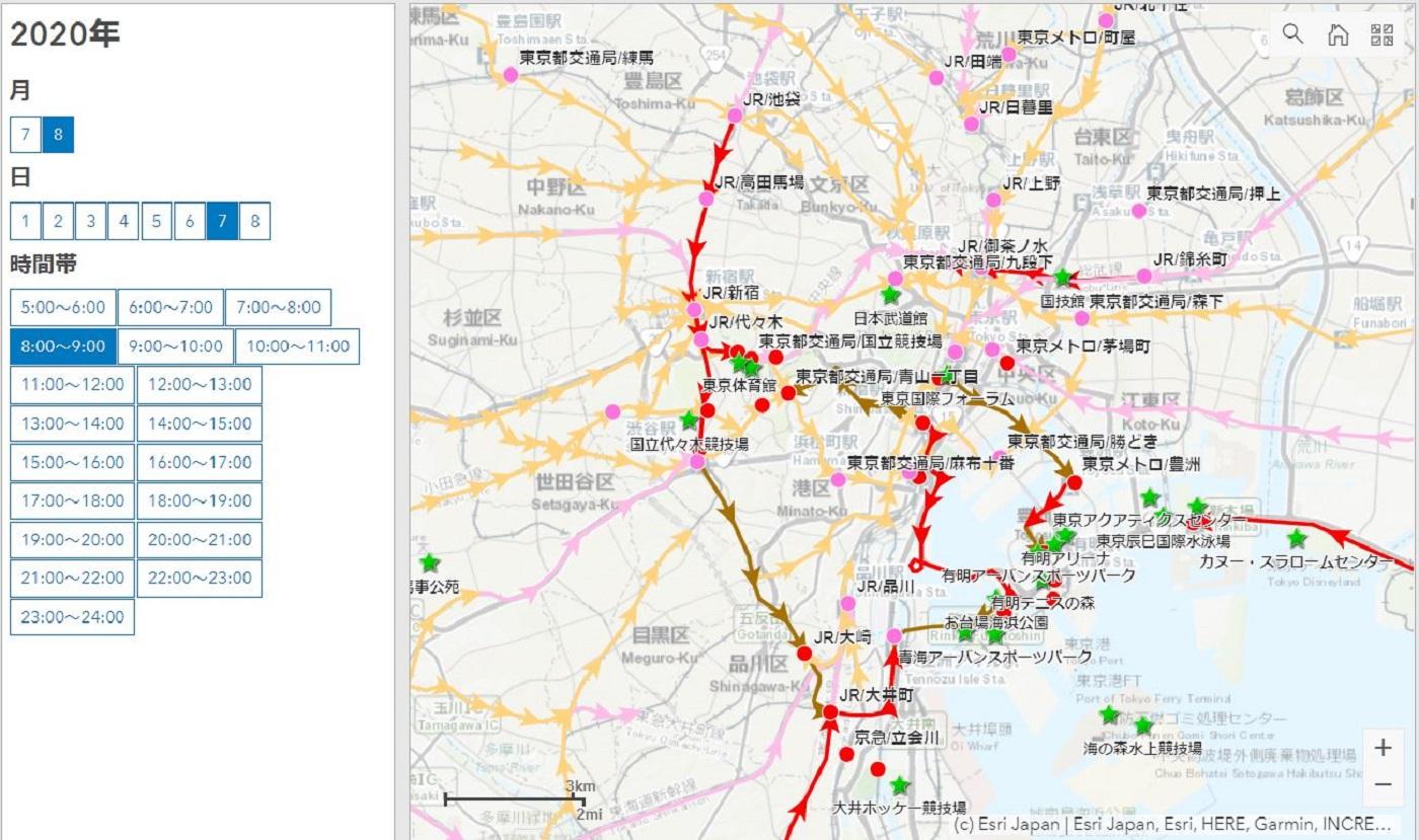 オリンピック期間中の交通規制予測