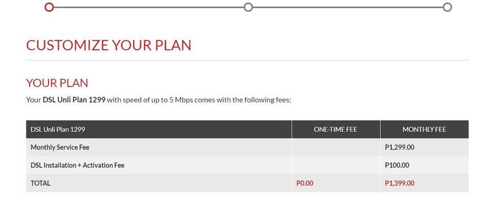 フィリピンのインターネット環境 PLDT値段