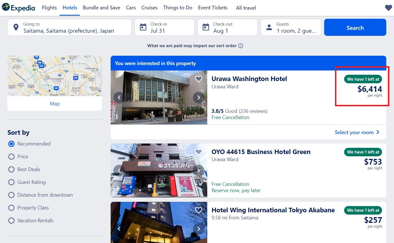 Book your 2020 Olympics hotels Expedia example