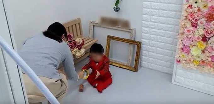 スタジオマリオの1歳お誕生日撮影の様子1