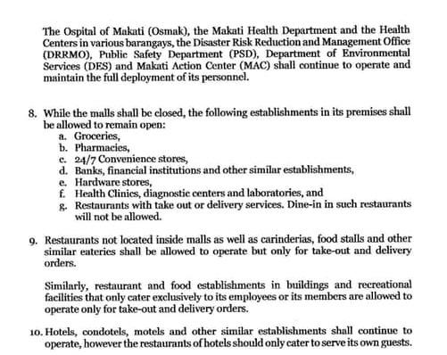 新型コロナ海外での反応 フィリピンのマニラ マカティ市対策2