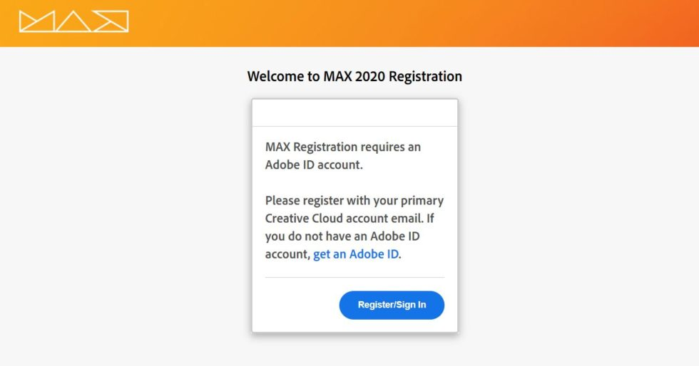 Adobe MAX 2020 Japan 申し込み方法2
