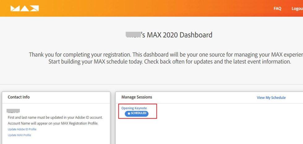 Adobe MAX 2020 Japan 申し込み方法5